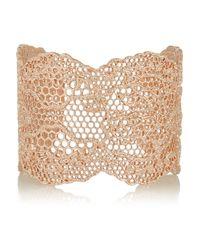 Aurelie Bidermann | Pink Vintage Lace Rose Gold-Plated Cuff | Lyst