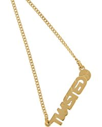 Marc By Marc Jacobs - Metallic Twisted Gold-Tone Cubic Zirconia Necklace - Lyst