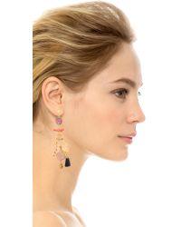 Gas Bijoux | Pink Serti Pondicherie Earrings - Coral Multi | Lyst