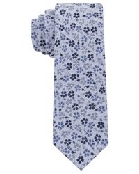 Calvin Klein | Blue Micro Floral Skinny Tie for Men | Lyst