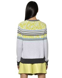 Proenza Schouler | Multicolor Woven Pattern Cotton Knit Sweater | Lyst