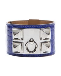 Hermès | Pre-owned Electric Blue Alligator Cdc Bracelet | Lyst