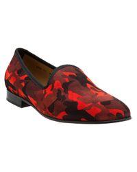Del Toro - Red Camouflage Print Slipper for Men - Lyst