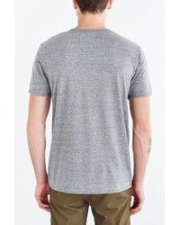 BDG Gray Tri-blend Buttonless Standard-fit Henley Tee for men