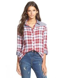 4si3nna | Red Mixed Plaid Shirt | Lyst