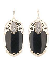 Kendra Scott Deva Twilight Black Glass Earrings