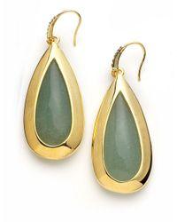 ABS By Allen Schwartz | Green Teardrop Drop Earrings | Lyst