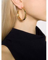 Michael Kors - Metallic Hoop Earrings - Lyst