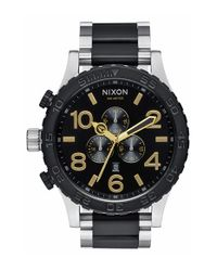 Nixon - Black 'the 51-30' Chronograph Bracelet Watch for Men - Lyst