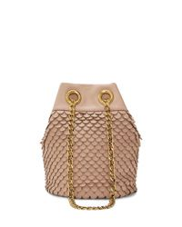 Vince Camuto | Natural Zigy Scalloped Leather Crossbody Bag | Lyst