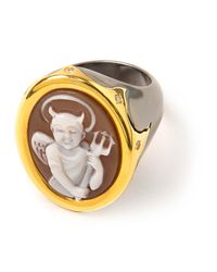 Amedeo | Metallic Cameo Signet Ring | Lyst