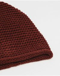 Zara | Purple Garter Stitch Hat for Men | Lyst