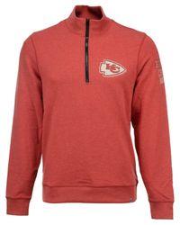 47 Brand Red Men's Kansas City Chiefs Forward Peak Quarter-zip Pullover for men