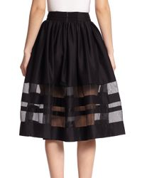 Alice + Olivia - Black Misty Midi Skirt - Lyst