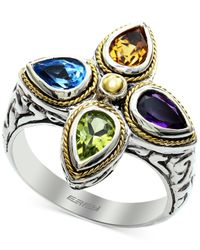 Effy Collection - White Effy Multi-stone Ring In Sterling Silver And 18k Gold (1-3/4 Ct. T.w.) - Lyst