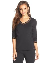 Calvin Klein - Black 'naked Touch' Pajama Top - Lyst