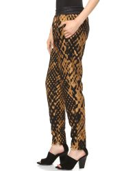 3.1 Phillip Lim Metallic Felted Jacquard Pants