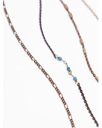 Free People | Metallic Womens Waterfalls Necklace | Lyst
