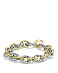 David Yurman Metallic Oval Large Link Bracelet With Gold