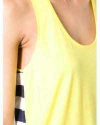 Petit Bateau Yellow Striped Back Top