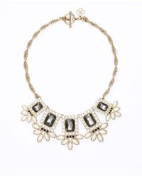 Ann Taylor | Gray Crystal Marquis Cluster Statement Necklace | Lyst