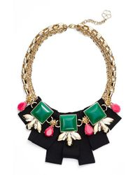 Trina Turk | Metallic Frontal Necklace | Lyst