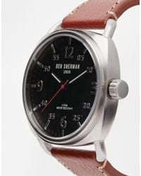 Ben Sherman - Brown Leather Strap Watch Wb008Br for Men - Lyst