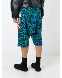 KTZ Multicolor Pixelated Shorts for men