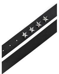 Givenchy Black Star-Studded Leather Belt for men