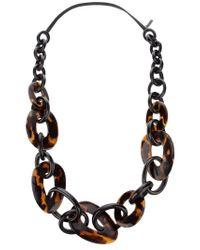 Monies   Brown Wooden Necklace   Lyst