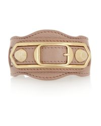 Balenciaga Multicolor Holiday Collection Textured-leather And Gold-tone Bracelet