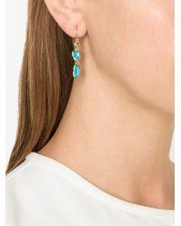 Irene Neuwirth - Blue 18kt Rose Gold Opal Drop Earrings - Lyst