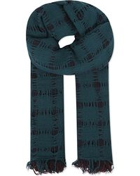 Yohji Yamamoto | Green Three Layer Knit Scarf | Lyst