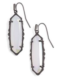 Kendra Scott | Metallic 'mystic Bazaar - Fran' Drop Earrings - Gunmetal Iridescent Opalite | Lyst