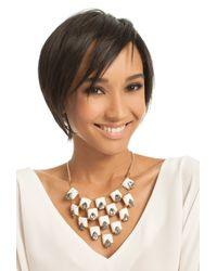 Trina Turk White Rubber Statement Necklace