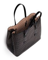 Alaïa | Black 'vienne' Perforated Leather Tote | Lyst