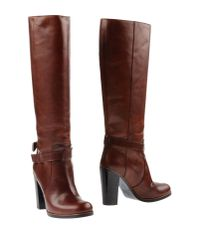MM6 by Maison Martin Margiela - Brown Boots - Lyst