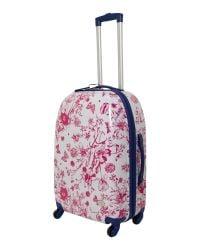 Dickins & Jones Pink Spring Butterfly Floral 4 Wheel Hard Medium Case