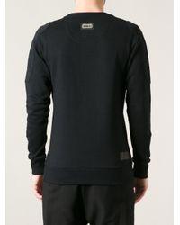 Philipp Plein - Black Logo Embroidered Sweatshirt for Men - Lyst