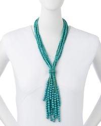 Nakamol | Blue Turquoise-Beaded Tassel Necklace | Lyst