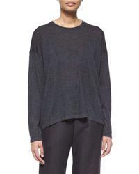 Eskandar - Black Long-sleeve Cashmere Sweater - Lyst