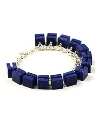 Lily Kamper - Constellation Charm Bracelet In Silver & Blue - Lyst