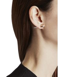 Katie Rowland - Pink Mini Stake 18Kt Rose Gold Vermeil Earrings - Lyst
