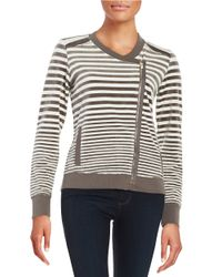 Calvin Klein | Natural Striped Velour Topper | Lyst