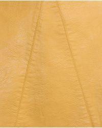 Zara | Yellow Faux Leather Skirt | Lyst
