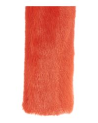 Helen Moore | Red Long Faux Fur Switch Scarf | Lyst