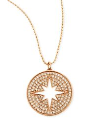 Sydney Evan - Pink 14K Rose Gold Diamond Starburst Medallion Necklace - Lyst