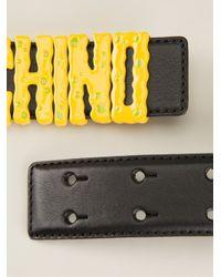 Moschino - Yellow Spongebob Effect Belt - Lyst
