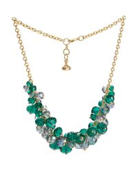Ted Baker - Green Bead Cluster Necklace - Lyst