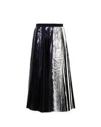 Proenza Schouler - Bi-Colour Metallic Pleated Midi Skirt - Lyst